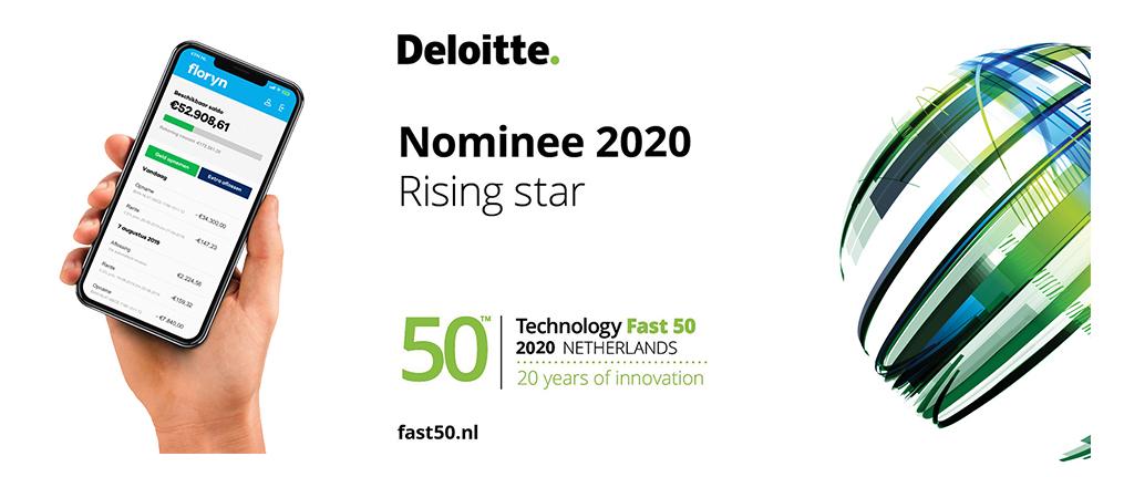Floryn is genomineerd voor de Deloitte Technology Fast 50 award